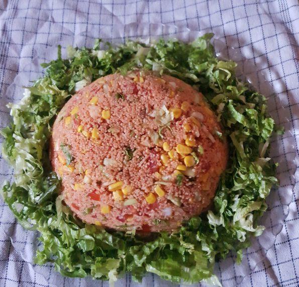Salade boulgour crudités