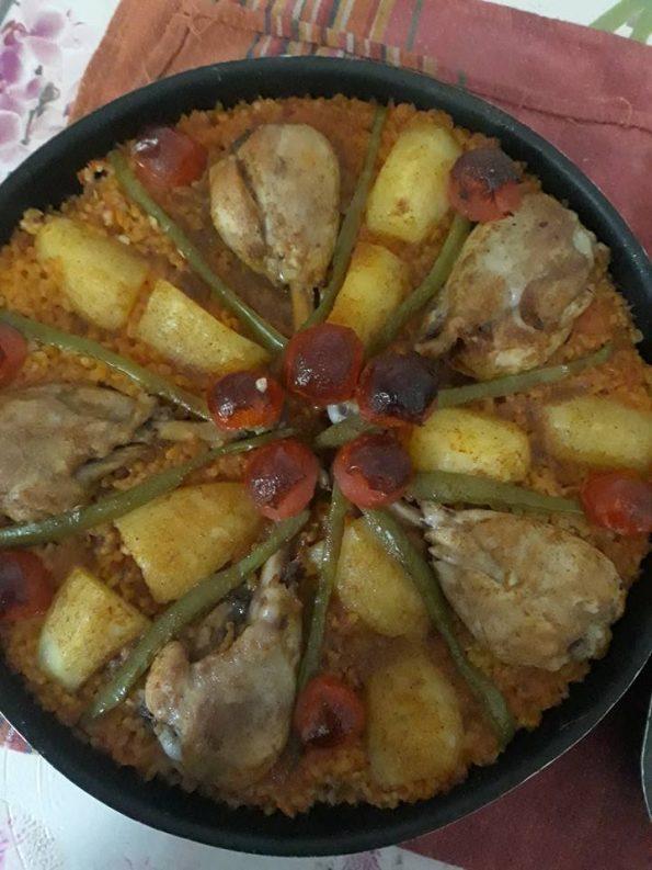 Cuisses de poulet au four et bulgur