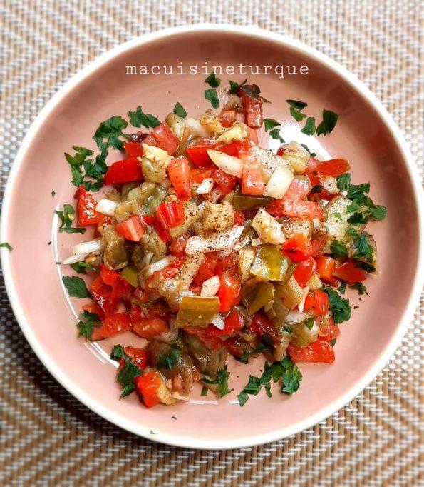 salade turque d'aubergines