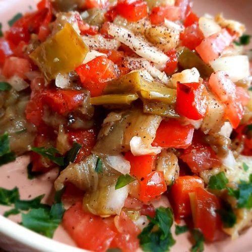 salade turque d'aubergine