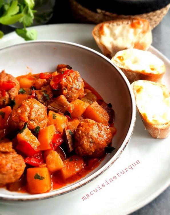 boulettes de viande aux légumes