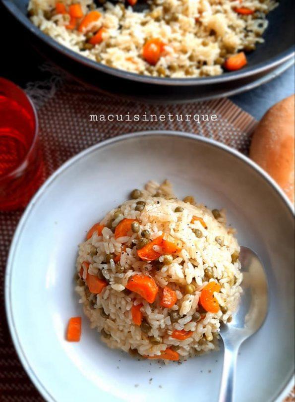 riz pilav, riz turc, légumes