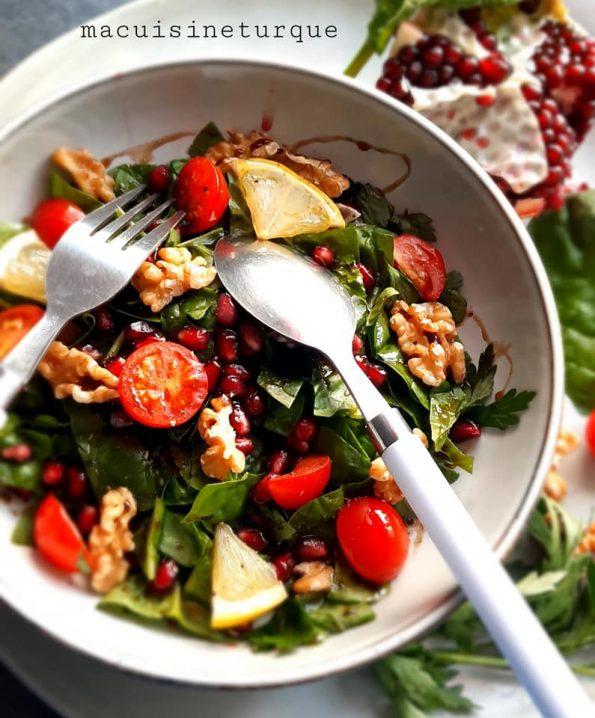 salade d'épinards