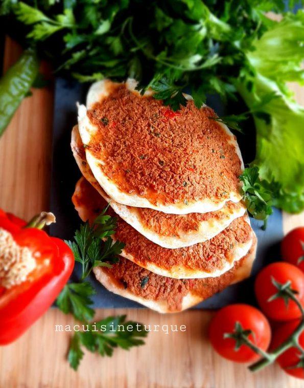 lahmacun, cuisine turque , recette turque, ma cuisine turque
